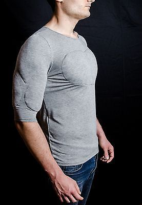 Other Mens Clothing 313: T Shirt With Muscles . Fake Muscles T Shirt . Enhancing T Shirt . Body Shaper -> BUY IT NOW ONLY: $34 on eBay!