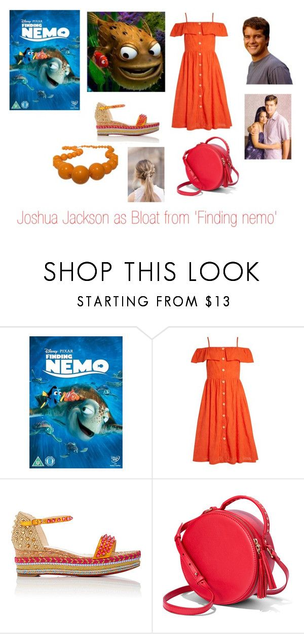 """""""Disney dream cast: Joshua Jackson as Bloat from. 'Finding nemo'"""" by sarah-m-smith ❤ liked on Polyvore featuring Christian Louboutin and Furla"""