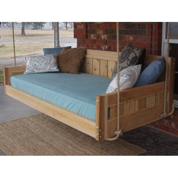 Conyers Hanging Daybed Rope Porch Swing Daybed Swing Hanging Daybed Porch Swing