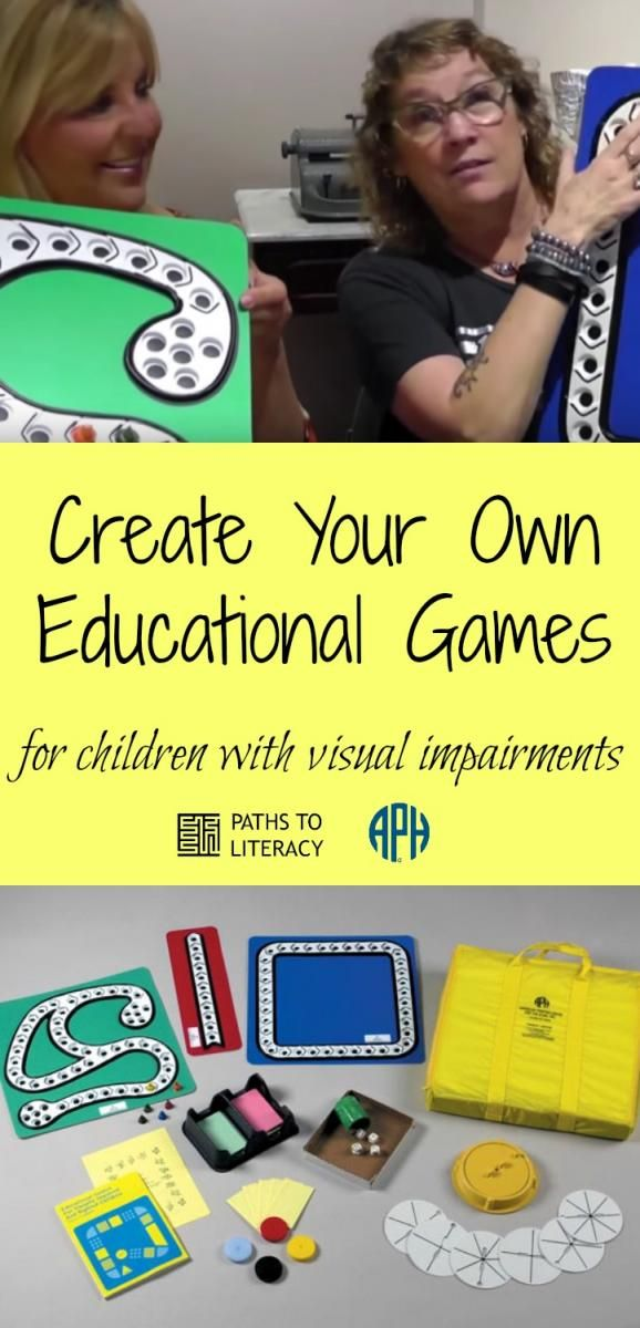 Create your own educational games for children with visual impairments!