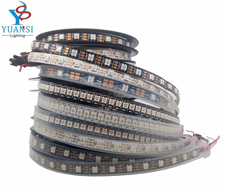 1m 2m 3m 4m 5m ws2812b ws2812 led strip,individually addressable smart led strip,black/white pcb waterproof ip30/65/67 dc 5v