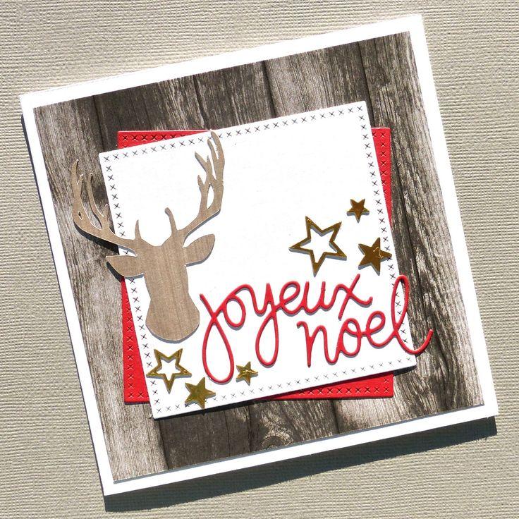 """Hello there!        Aujourd'hui, une petite carte de Noël pour répondre   au Challenge en cours sur The Card Concept .   Le thème """"amour e..."""