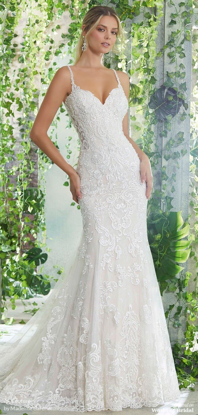 Off The Shoulder Lace Fit And Flare Wedding Dress Allure Bridal