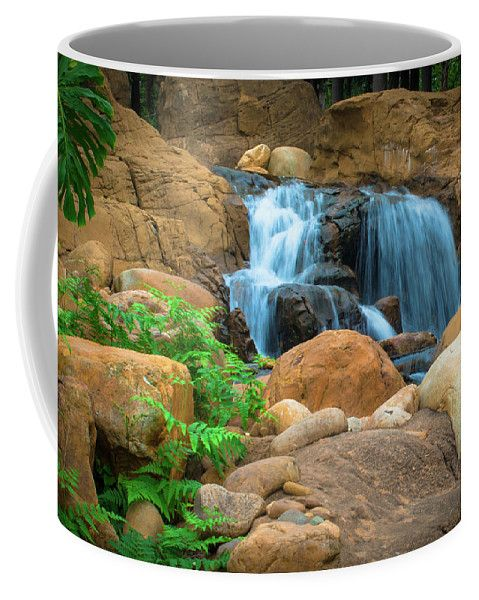 Mariia Kalinichenko Coffee Mug featuring the photograph Wonderful Waterfall by Mariia Kalinichenko #MariiaKalinichenkoFineArtPhotography #Waterfall #HongKong #CoffeMug #FineArtPhotography