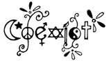 Coexist No Thanks  Bumper Sticker Memphis coexist Text