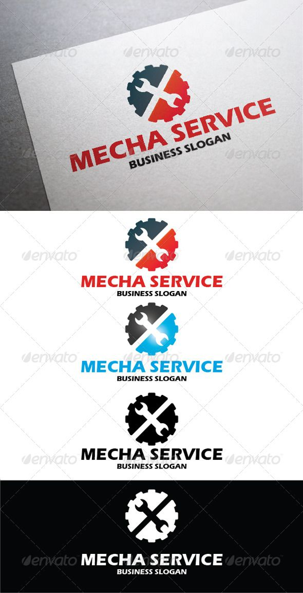 Mecha Service  #GraphicRiver         Mecha Service – An excellent logo template highly suitable for any mechanics business or repair stations.