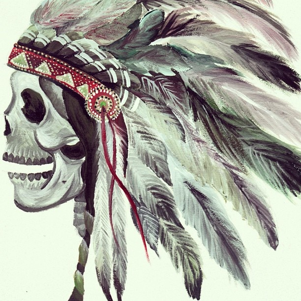 Gallery For gt Skull And Feather Headdress