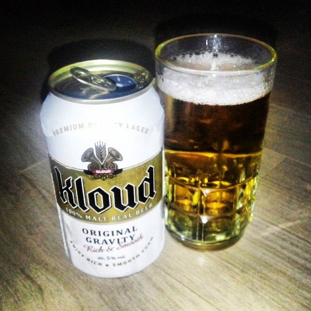 Trying out the new beer from Lotte #Kloud