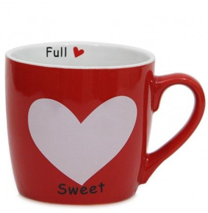 "Let the mug convey your feelings to your loved ones. This mug 3.3 inches in height features a heart design with beautiful quote written on It ""The mind should be together"". This coffee mug made up of ceramic is durable also and going to make your gossip sessions over a coffee even more exciting."
