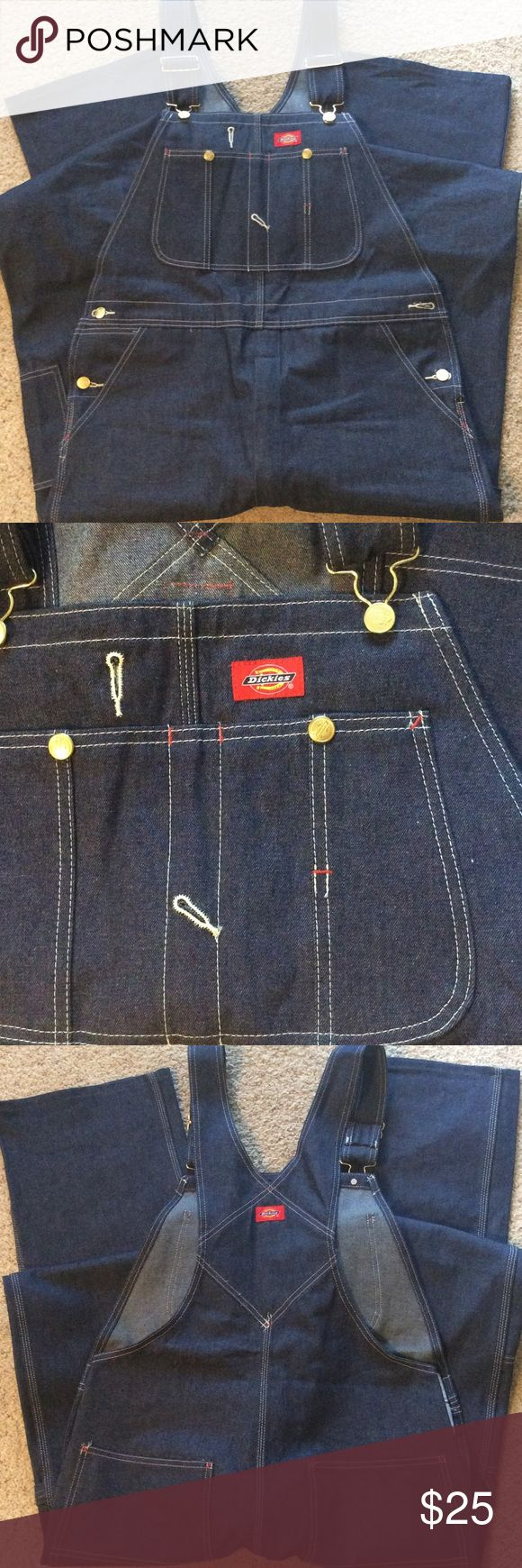 Dickies bib overalls. Brand new. Size 34 x 36. Brand new without tags. Indigo Bib Overalls. Size 34 x 36. Nice! Dickies Jeans