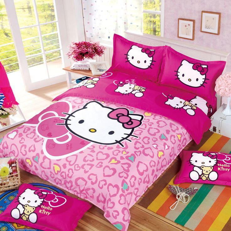 Kids Adults Cartoon Hello Kitty Minions Mermaid Bedding