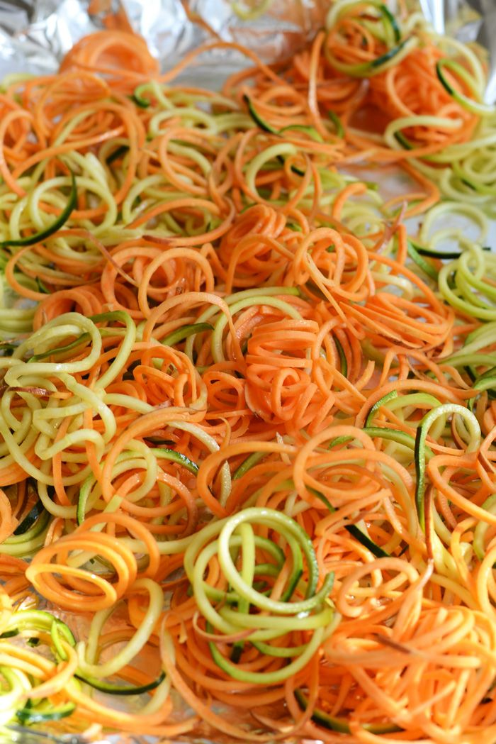 Anyone out there have a spiralizer? Thinking about it…  Roasted, Easy, Herby Spiralized Vegetables