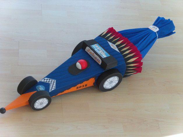 Schultüten - Schultüte Rennauto,Formel 1,Rennwagen,BASTELSET 06 - ein Designerstück von Jeanetts_Creativ_Stube bei DaWanda