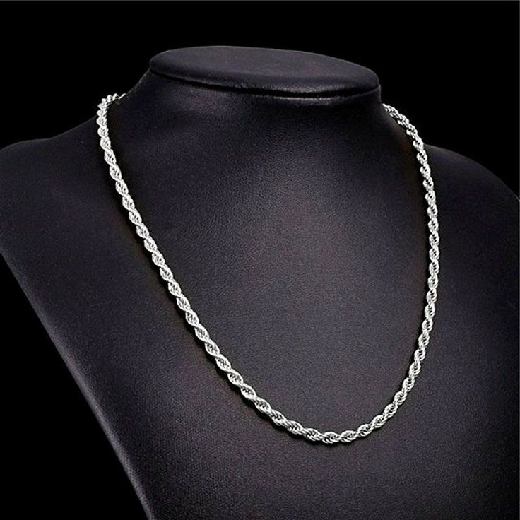 """Valentine Special! Men's Bright White 14K Gold Filled 2MM Bold Rope Chain 24"""" #BAC #TwistedRope"""