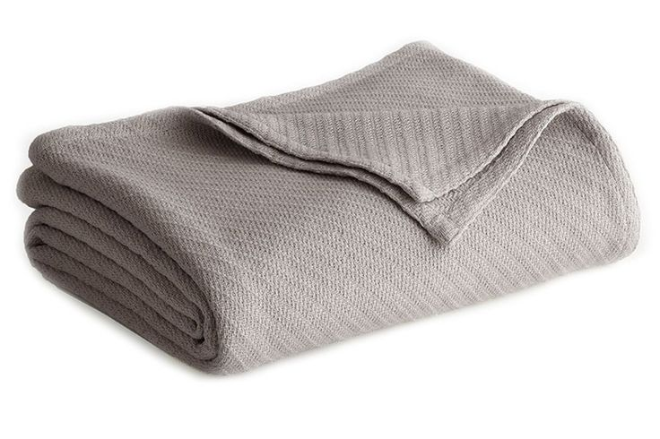 Cotton Thermal Blanket King Size Soft Warm Bedding Medium Weight Versatile Grey #CottonThermalBlankets #Contemporary