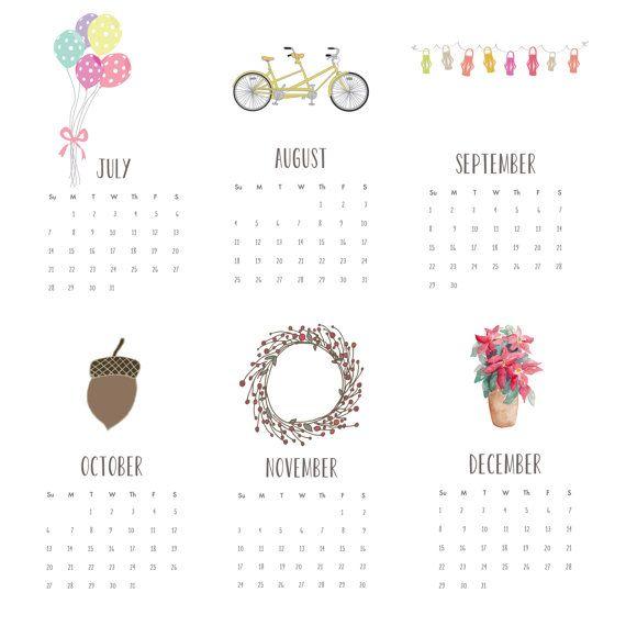 2013 Calendar -  4x6 desk calendar - for work home school - wall calendar - pretty flowers - watercolor(II)