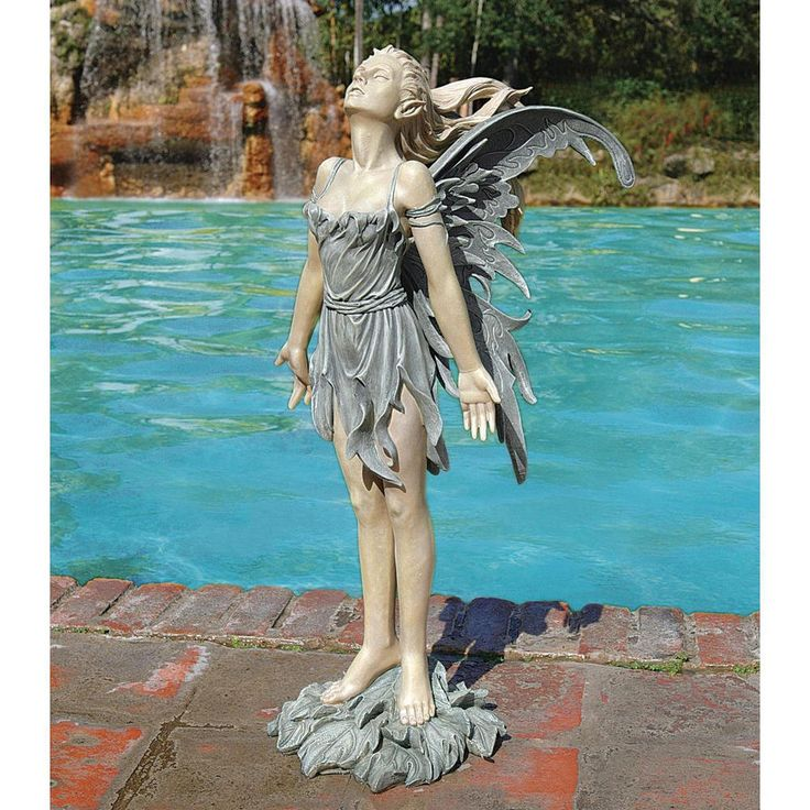 """Design Toscano 27"""" Spirit of the Wind Fairy Statue Finished In Two-Tone Resin #DesignToscanoExclusive"""