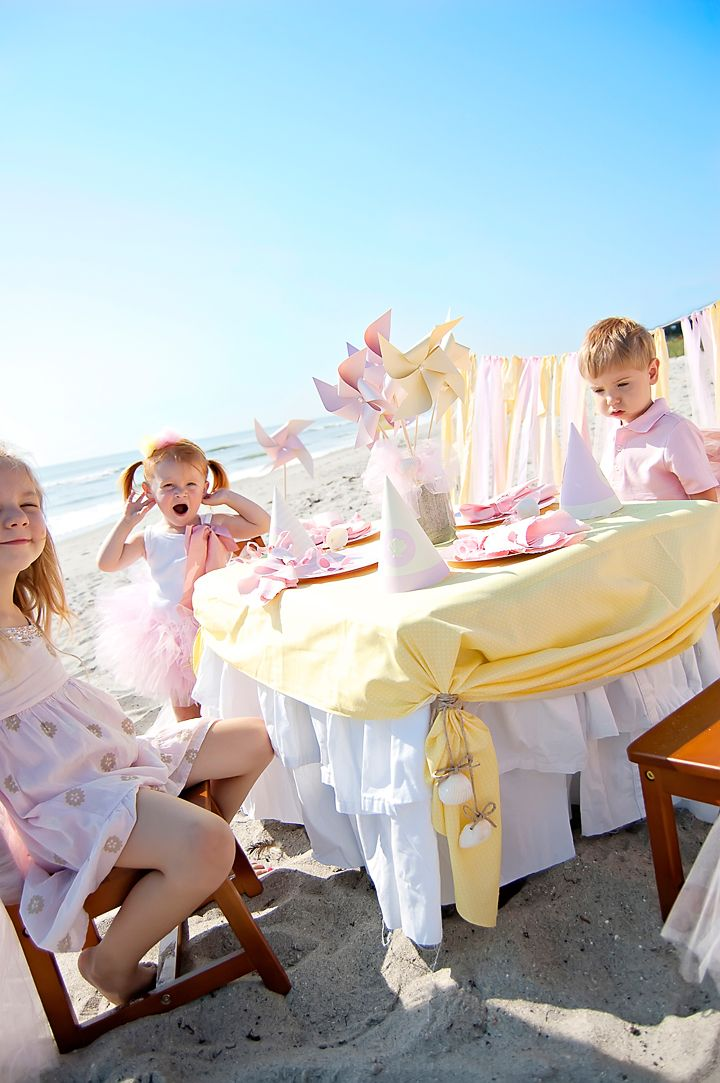 Kids Dinner Party Ideas Part - 17: A Beach Baby Birthday