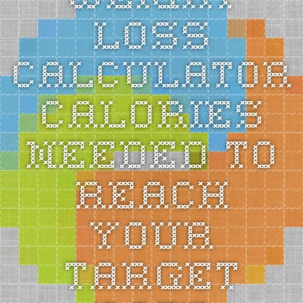 Weight Loss Calculator - Calories Needed to Reach Your Target Date
