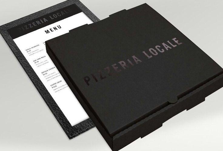 Black pizza box
