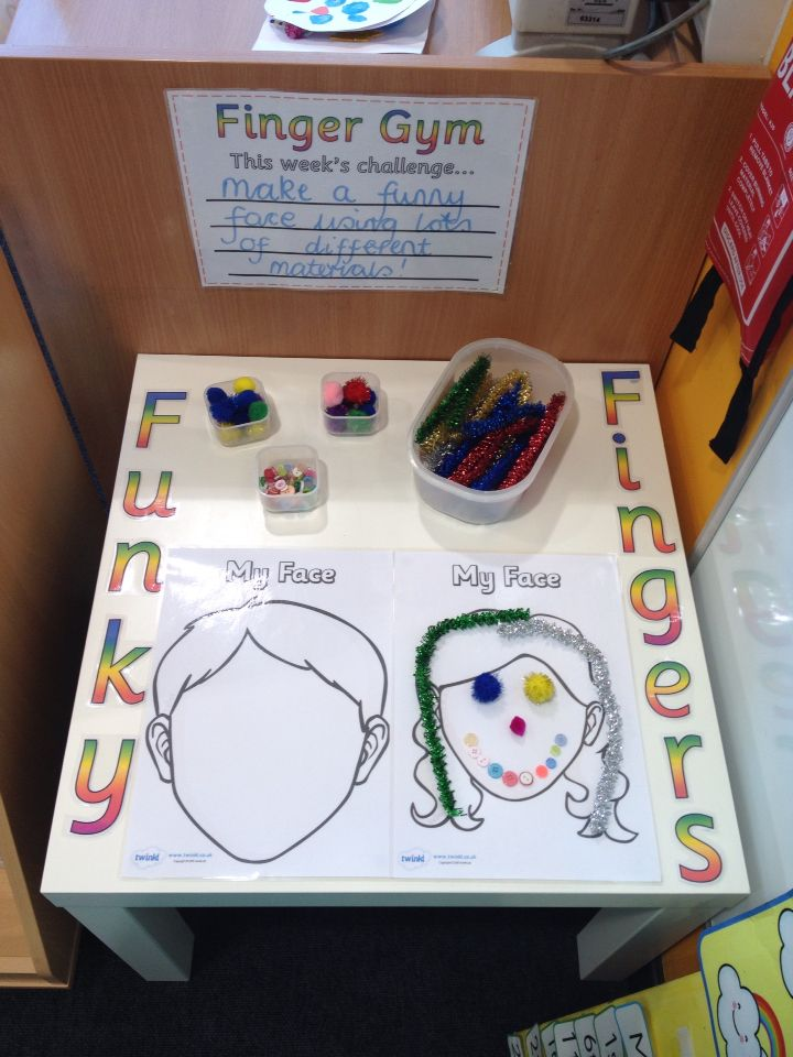 Funky Fingers - Can you make facial features using pipe cleaners, pom-poms and buttons?