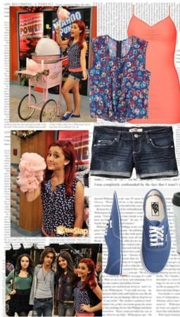 """Ariana Grande's character """"Cat"""" from Victorious outfit"""