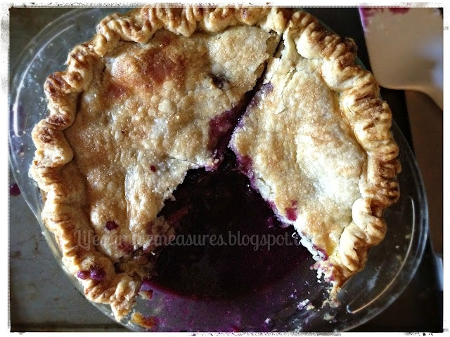 Blueberry Nectarine Pie. Absolutely my most favorite pie I've made or ever tasted!