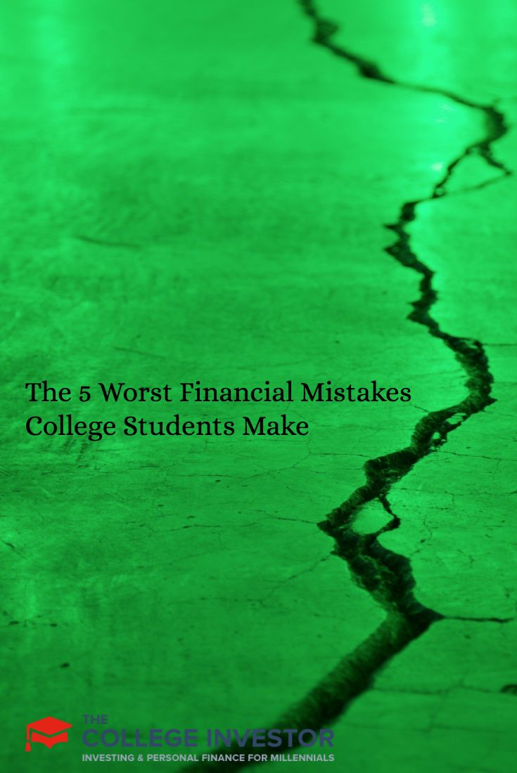 top five mistakes college students make College students face many hard financial decisions as a young adult they need to figure out how to pay for college, earn some spending money.