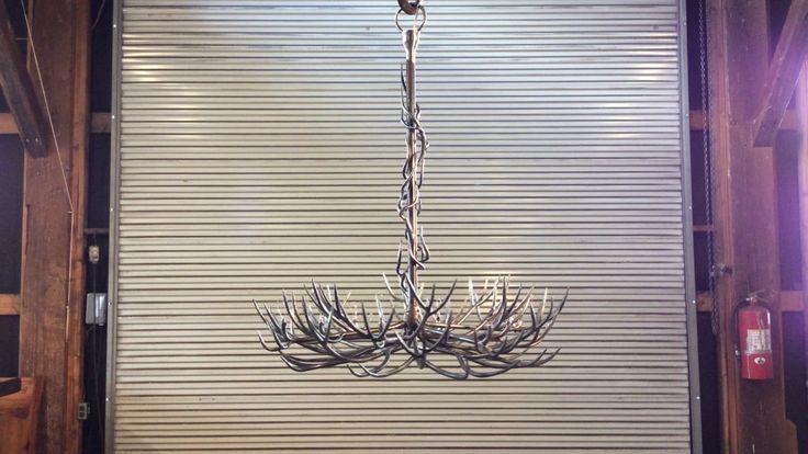 Custom forged Iron Branch Chandelier