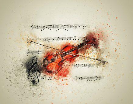 Viool, Muziek, Notities, Kunst