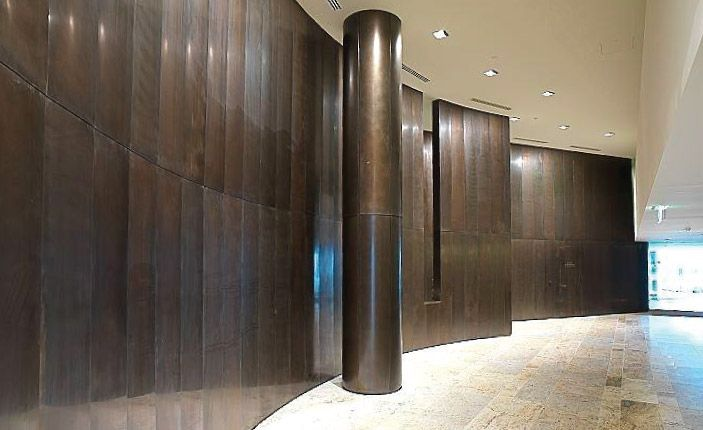 Bronze wall panels - Becton - Melbourne