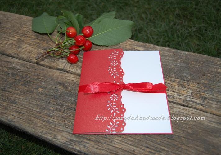 Cherries and Handmade Invitation by magdahandmade.blogspot.com