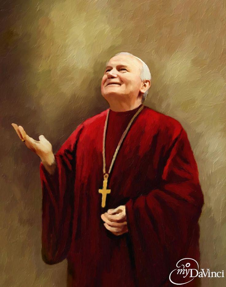 St.Pope John Paul II oil painting,