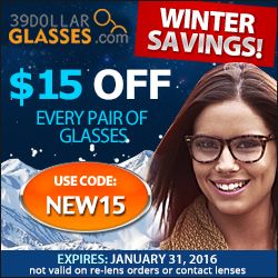 #EYEWEARFASHIONS   http://www.planetgoldilocks.com/free_coupons.htm Get $15 off every pair of glasses on your order! Use code: NEW15 Expires 01/31/2016. #COUPONCODES #FASHIONS #Eyewear #Eyeglasses #39DollarGlasses