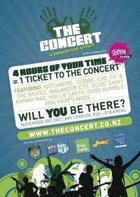 Tickets to the Concert were sent out to 8,000 individuals who contributed over 50,000 hours of volunteering!