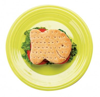 Fish shaped bread for sandwiches    http://www.parenting.com/gallery/fish-theme-birthday-party?view=home&pnid=424474