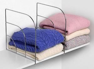 Organize your closet with shelf dividers: Tall Solid Shelf Dividers
