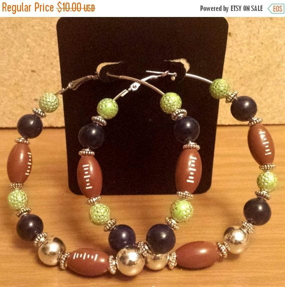 Seattle Seahawks team colors Football by THEACCESSORIEDOLL on Etsy