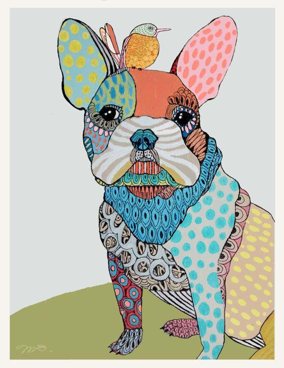 Custom Pet Portrait by mateasinkovec on Etsy. So unique and original! Love!