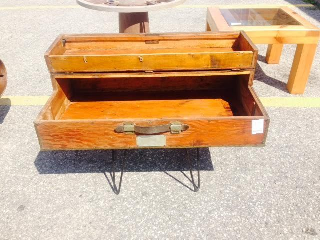 This is a lovely, #antique wooden box, useful and #collectible in our #owensound store $150 #shoplocal #georgianbay