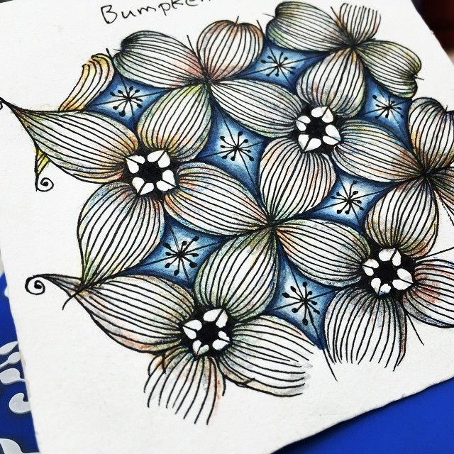 Tangle pattern with colours #Zentangle #ZIA #tangle #pattern #colored #artwork…