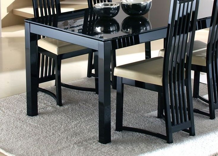 17 mejores ideas sobre Black Glass Dining Table en Pinterest ...