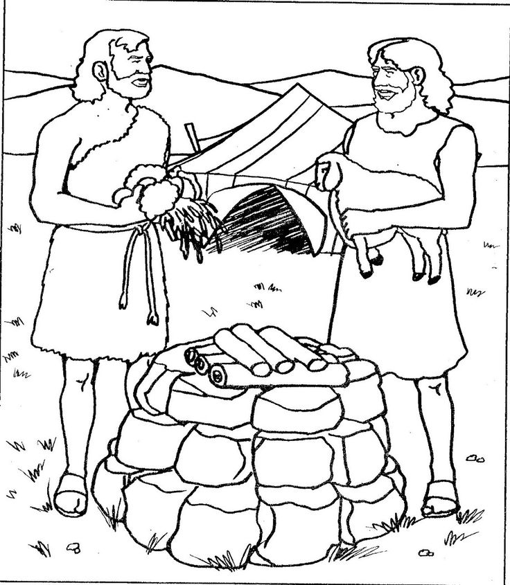 cain and abel coloring pages - photo#14