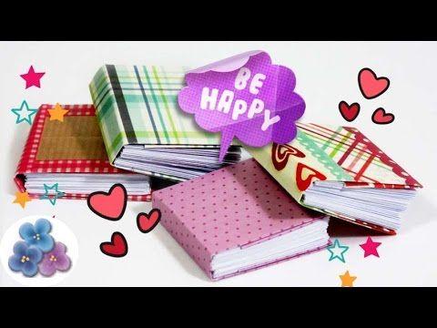 Encuadernacion Casera 48 páginas Tutorial Origami Micro Cuadernos DIY Pi...