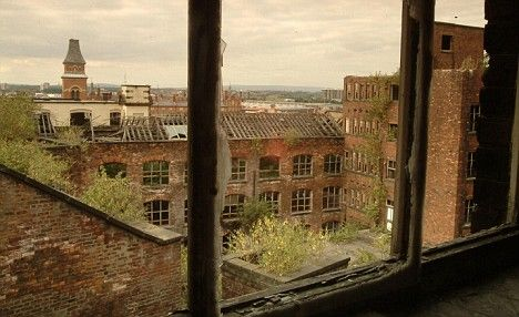 Decaying mill in Ancoat area of Manchester. Photograph from 2003 where one of the notorious gangs hailed from.