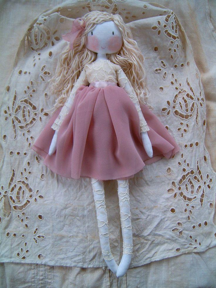 https://flic.kr/p/DdrJ2g | Handmade doll | Handmade rag doll.Waldorf doll.Soft doll. Custom home-made rag dolls, bags, vanity vintage style lovers. tildaskedvenc.blogspot.hu/