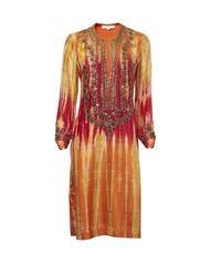 surekha jain. tie dye and beaded kaftan. cool