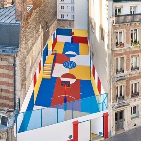 A basketball court in Paris. #streetart #graffiti #art #urban #urbanart #museum #artsy #artistic #mural #documentary #instagraffiti #arts #wallporn #photooftheday #contemporaryart #picoftheday #instadaily #artwork #arte #artist #spraypaint #publicart #outdoorart #graffitiporn #instagrafite #artlife #paris #france #basketball