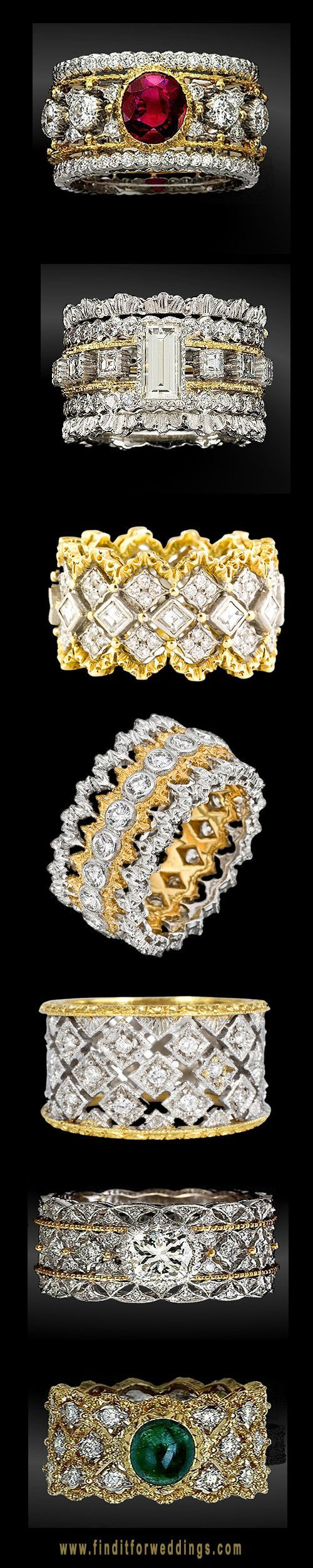 Buccellati rings #jewels #jewellery #rubies #diamonds