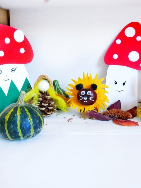 Basteln Mit Naturmaterialien Herbst Herbst Mit Kindern